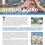 Gypsum Board A Key To A Quieter Home