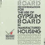 Gypsum Board in Manufactured Housing 1986