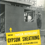 New Water-Repellent Gypsum Sheathing 1945