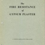 The Fire Resistance of Gypsum Plaster 1938